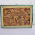 Vintage ישראל Israel Jewish Judaica Olive Wood Hand Carved Wall Hanging Sign