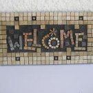 WELCOME Israel EILON MOSAICS Natural Stone Hand made Wall hanging Sign