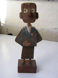 Frank Meisler Israeli Artist Marvelous Wood Figurine