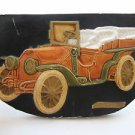Vintage Marvelous CHEVROLET LUX  Chalkware Wall Relief Sculpture Plaque 1000gr