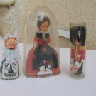 Lot of 3 Dolls, Engadin Swiss Doll, English Palace Gaurd Doll & French Doll
