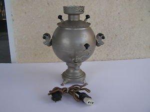 Marvelous Heavy 2500gr Hand Engraved Sphere Russian Brass Electric Samovar