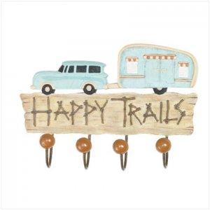 """ Happy Trails"" Wall Hook"