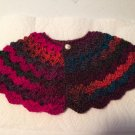 Multi-Colored Baby Cape Poncho