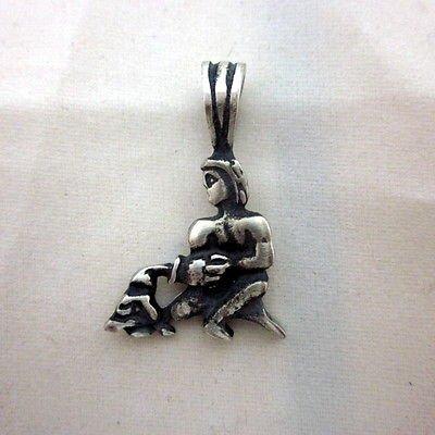 Aquarius 15 x 28.3mm SOLID SILVER pendant