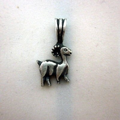 Aries 13.9 x 25.5 mm zodiac solid silver pendant