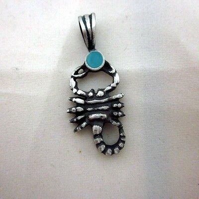 Scorpio 14.9 x 36.7 zodiac solid 925 silver pendant