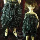 Dollfie SD Outfit Black/White Dots Tube Top Dress/Skirt