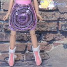 """Releaserain Doll Clothes Peacock Sequined/Fur Pink Skirt for 16"""" Fashion Dolls"""