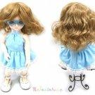 Unoa Yo-SD Dollfie Middle Milk Brown Wavy 6-7 Doll Wig