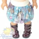 "Fantasy Blue/Purple Mesh Bubble Skirt Doll Clothes Outfit for 18"" American Girl"