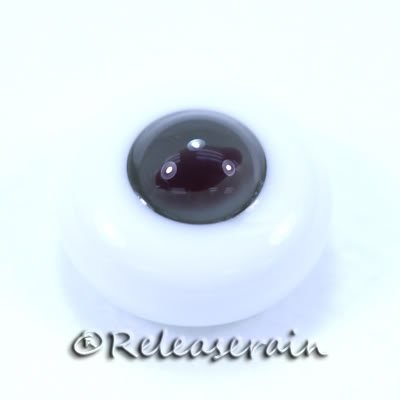 Releaserain Doll Glass Eyes 14mm S.Grey/D.PP Cat #CE02 for BJD Dollfie