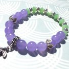Bumble Bee Beaded Bracelet, Lavender Jade Bracelet, Bumble Bee Charm