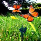 HQRP 2 Solar Powered Flying Fluttering Butterflies Orange for Garden Plants