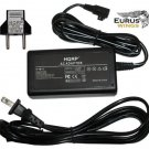 HQRP AC Adapter for Sony alpha DSLR-A350 DSLR-A550 AC-PW10AM