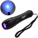 HQRP Ultra Violet LED Flashlight Rainproof / Weather IP55 Resistant Torch Light