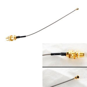 HQRP IPEX (UFL) to SMA Female Adapter Pigtail Cable for Wifi Wireless Antenna