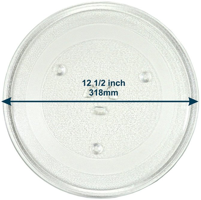HQRP 12.5-inch Glass Turntable Tray for Samsung Microwave Oven Cooking Plate