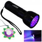 HQRP 51 LED 395 nM Ultra Violet LIGHT Flashlight Scorpion Detector + UV Meter