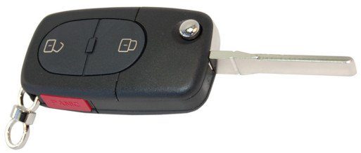 HQRP Folding Flip Key FOB Shell Remote Case for Audi A4 2001, 2002, 2003, 2004