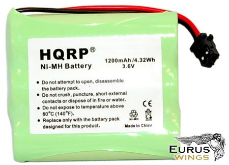 HQRP Cordless Phone Battery for Gold Peak GP60AAS3BMX GP60AAS3BMZ