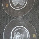 VAL ST LAMBERT REMBRANDT & PP RUBENS BELGIUM OLD MASTER  CRYSTAL PLATES