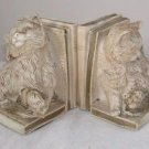 COLLECTIBLE UNIVERSAL STATUARY CORP KITTY /CAT BOOKENDS CHALKWARE MAROTTA