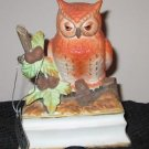 TOWLE JOHNATHON BYRON PORCELAIN OWL MUSIC BOX ROYAL CROWN ON OFF SWITCH BIRDS