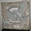 CARVED EAGLE WALL PLAQUE ALABASTER(?)