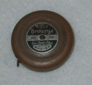 BROWNIE TAPE MEASURE No. 116  MADE BY MASTER 6 FOOT