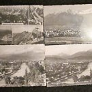 4 INNSBRUCK, AUSTRIA POSTCARDS ERA 1950/60 UNUSED