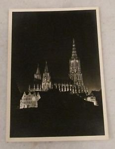ULM / DONAU MUNSTERBELEUCHTUNG, GERMANY POSTCARDS ERA 1950/60 UNUSED