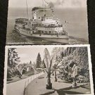 BODENSEE-DAMPFER STADT OBERLINGEN FREIBUTG GARDEN POSTCARDS ERA 1950/60 UNUSED