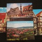 4 STUTTGART, GERMANY POSTCARDS MARKPLATZ ERA 1950/60 UNUSED
