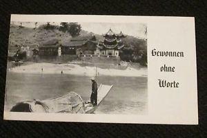 GEWONNEN OHNE WORTE HERMAN BECKER MISSIONARY GERMAN  PAMPHLET ERA 1950/60
