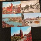 5  BASEL PALACE OF PARLIMENT L'HOTEL DE VILLE, GERMANY POSTCARDS ERA 1950/60