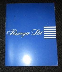9-17-1953 SS UNITED STATES LINE PASSENGER LIST NEW YORK TO HAVRE & SOUTH HAMPTON