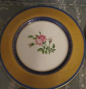 VINTAGE COLLECTIBLE PICKARD CHINA  GOLD HAND PAINTED DECORATED ROSES