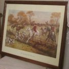 FULL CRY THROUGH THE HOMESTEAD HORSES PRINT PICTURE GEORGE WRIGHT 1860/1942