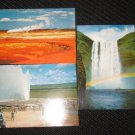 3  MISC, ICELAND  POSTCARDS   ERA 1950/60 UNUSED