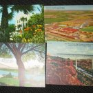 4 MISC TEXAS  POSTCARDS ERA 1950/60 UNUSED