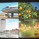 4 HARLINGTON & CORPUS CHRISTI, TEXAS  POSTCARDS   ERA 1950/60 UNUSED