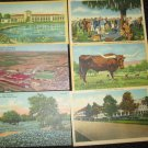 6 MISC TEXAS  POSTCARDS SCOTT & WHITE HOSPITAL ERA 1950/60 UNUSED