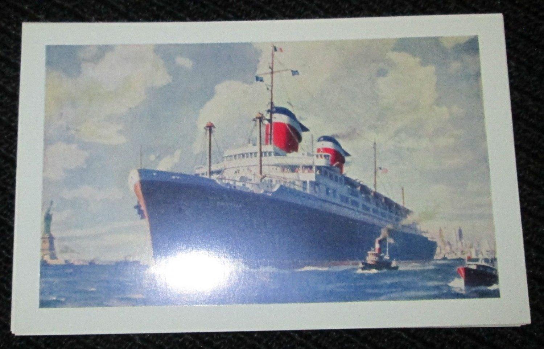 S.S. 'AMERICA' UNITED STATES LINES SHIP POSTCARDS ERA 1950/60 UNUSED COLOR