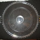 LEAD CRYSTAL SERVING TRAY CAKE PLATE LEAD CRYSTAL HANDLES