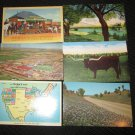 6  TEXAS STATE POSTCARDS JUDGE ROY BEAN ERA 1950/60 UNUSED