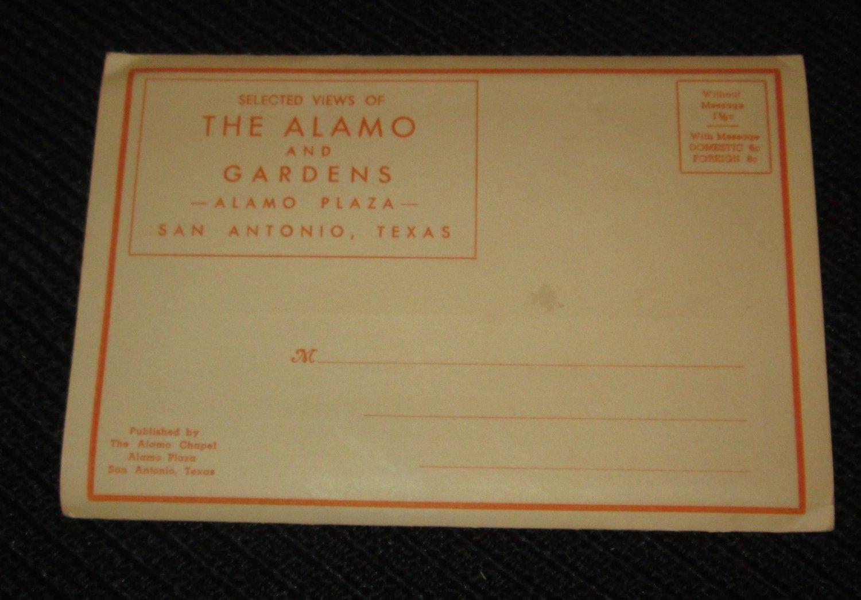 10 SAN ANTONIO, TEXAS THE ALAMO POSTCARDS ERA 1950/60 UNUSED