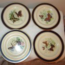 COLLECTIBLE PICKARD STUDIO CHINA GOLD HAND PAINTED DECORATED PLATES BUTTERFLY