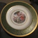 COLLECTIBLE PICKARD STUDIO CHINA  GOLD HAND PAINTED DECORATED PLATE FIGURAL
