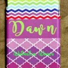 Iphone 6 Plus Cell Phone Case Chevron Quaterfoil Pattern Custom New